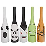 Holiday Gear Halloween Wine Bottle Covers & Decorations ~ Unique Holiday Wine Decor ~ Set of 5 Halloween Wine Bottle Covers