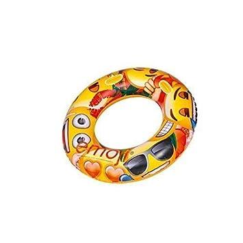 lively moments XXL Flotador / Anillo Flotante con el Popular Emoji / Smiley / Emoticono: Amazon.es: Juguetes y juegos
