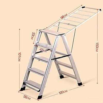 LwDrying rack Soporte de Secado Aleación de Aluminio Escalera multifunción/Soporte de Secado Aterrizaje Perfil aerodinámico Plegable Soporte de Secado Interior y Exterior (Color : B): Amazon.es: Hogar