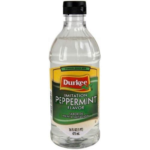 Durkee Imitation Peppermint Flavor - 16 oz. bottle, 6 per case