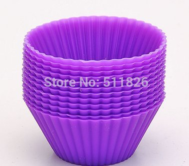 12 Pcs. Silicone Soft Round Cake Muffin Chocolate Cupcake Liner Baking Cup Mold