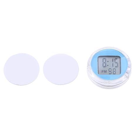 MagiDeal Reloj Digital Hora Minutos Segundos Pantalla LED Impermeable Motocicleta - Azul