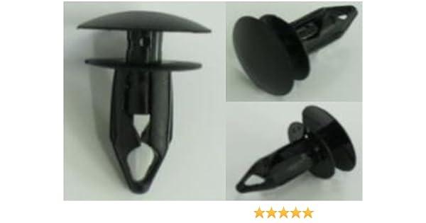 Gm rear bumper cover push type retainer head 20mm stem 21mm fits 9mm hole 25 Pcs