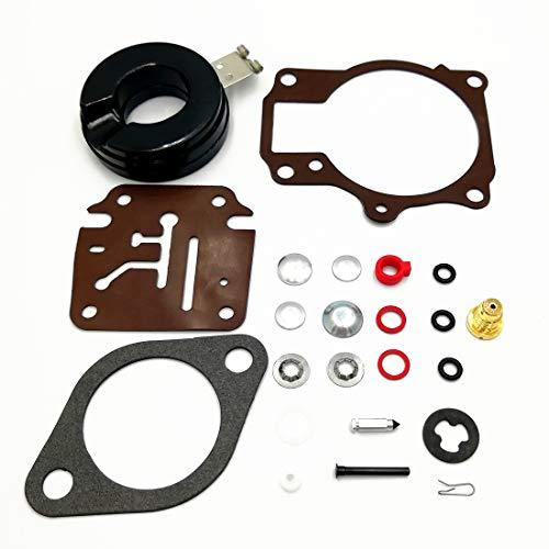 2Pack Carburetor Rebuild Kit with Float for Johnson Evinrude 396701 392061  398729 18 20 25 28 30 35 40 45 48 50 55 60 65 70 75 HP Outboard Motors