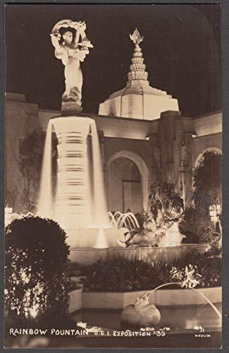 Rainbow Fountain Golden Gate Exposition World's Fair RPPC postcard 1939