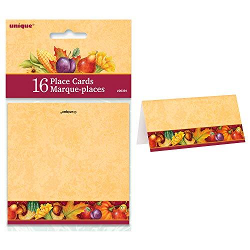 - Unique Festive Turkey Place Cards | 16 Count | Autumn, Fall, Thanksgiving Table Decorations