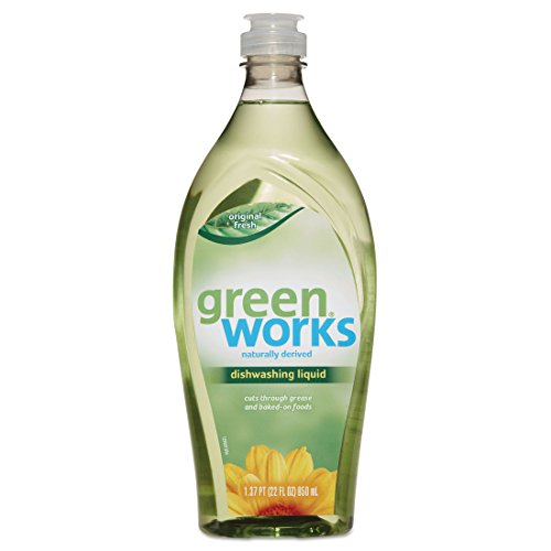 - Green Works Dishwashing Liquid, Original Fresh, 22 oz Squeeze Bottle, 6/Carton