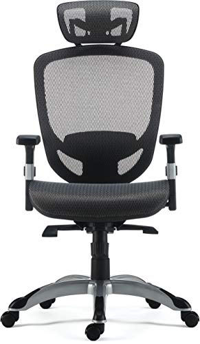 MyOfficeInnovations 24328579 Mesh Computer and Desk Task Chair, Charcoal
