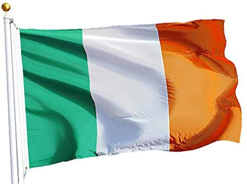 G128 – Irish Flag | 3x5 feet | Printed – Vibrant Colors, Brass Grommets, Quality Polyester, Ireland -