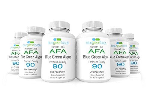 AFA Blue Green Algae Organic Stem Cell Superfood Stem Cell Enhance 90 caps AFA Bluegreen Algae 6-Pack