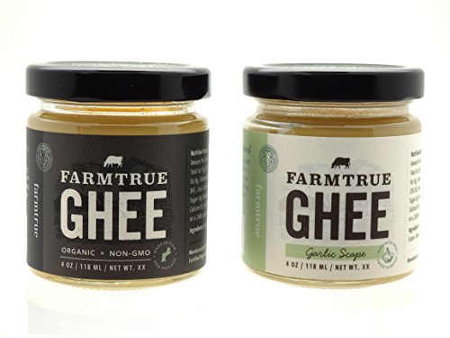 Ghee - Traditional and Garlic Scape - Gift Packaged by Farm True
