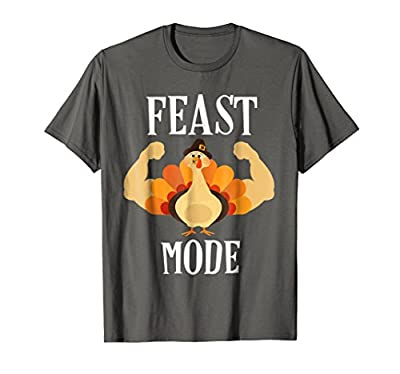 Feast Mode Shirt Funny Muscle Turkey Thanksgiving Shirt