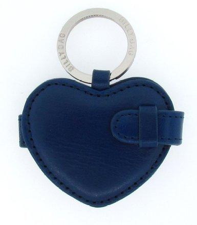 Billy Bolsa Llavero con forma de corazón de piel, color azul ...