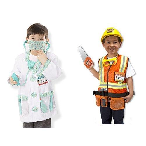 Melissa & Doug Doctor & Construction Worker Role Play Bundle