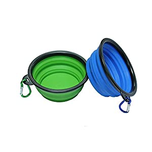 Dog Bowls – Pack of Two – FDA Approved Collapsible Travel Water Bowl for Dogs – Suitable as a Cat Food Bowl – Get Ready… Click on image for further info.