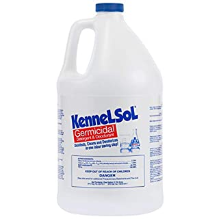 KennelSol Dog Crate Cleaner and Disinfectant | Cleaning Concentrate, Kills Bacteria & Viruses, Parvo Disinfectant | Kennel Cleaner | 1 Gallon