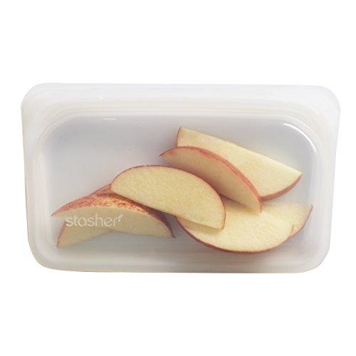(Stasher Reusable Silicone Food Bag, Snack Bag, Storage Bag, Clear)