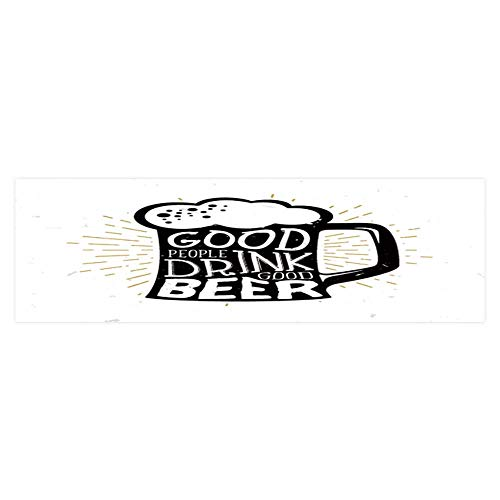 Dragonhome Fish Tank Background Decor Static Image Backdrop Wallpaper Sticker Cling Decals Good People Drink Good Beer Beer Themed Quote Inside Wallpaper Sticker Background Decoration L23.6 x H19.6