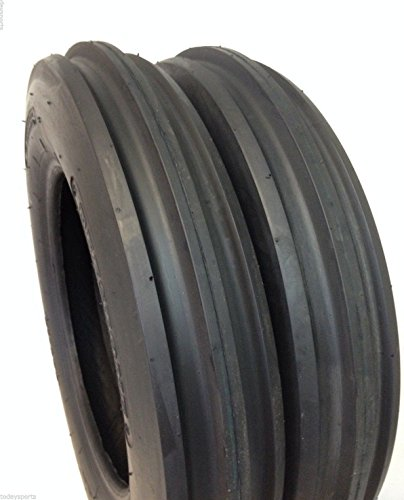 Deestone Two 5.00-15 Rib Tractor Tires with Tubes 500-15 Three Rib - Farm Tractor Mowers