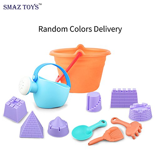 SMAZ TOYS Beach Sand Sandbox Toys Set For Toddlers/Kids with Bucket and Watering Can by Seaside or Pool 12 Pcs Set (Random Color)