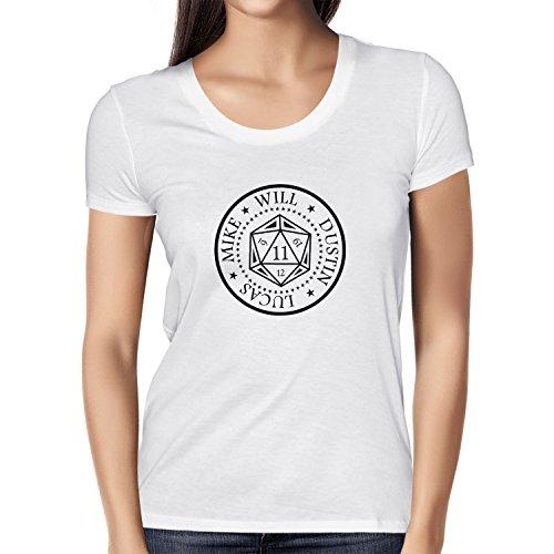 NERDO Strange Cube - Damen T-Shirt, Größe XL, weiß
