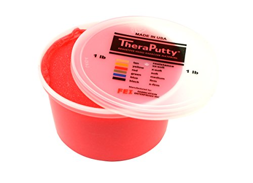CanDo Sparkle Theraputty - 1 lb - Red - Soft