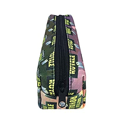 Pencil Case - Canvas Stationery Pencil Case, Games, Anime Series Pencil Case, Multifunctional Zipper Stationery Box. (Color : 03) drgger