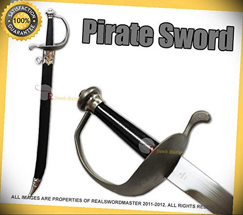 29'' Swashbuckler Corsair Cutlass Barbary Pirate Sword with matching scabbard NEW perfect for cosplay outdoor camping]()