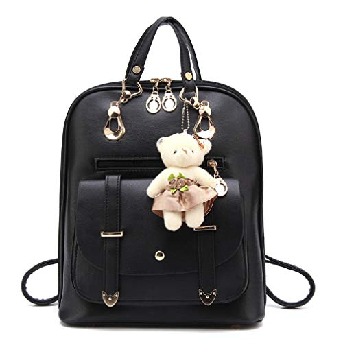 Women Teenger Fashion Shoulder Pink Girls Students Backpack Schoolbags Bags Leather Zipper Lady For Pu rp1rnxfwqP