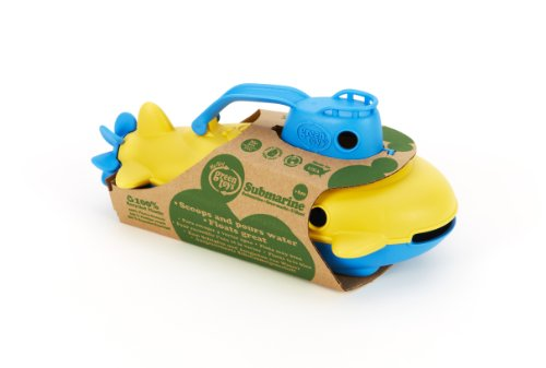 41KwiocoF1L - Green Toys Submarine - BPA, Phthalate Free Blue Watercraft with Spinning Rear Propeller Made from Recycled Materials. Safe Toys for Toddlers