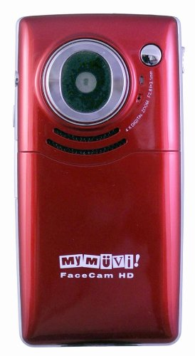 amazon com pro facecam hd red flash memory camcorders electronics