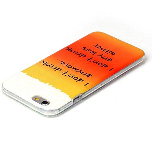 PowerQ Bunte Muster Serie Malerei Zeichnung Colorful Pattern TPU Fall Case Hülle < Beer | für IPhone6SPlus IPhone 6SPlus 6Plus IPhone6Plus >            weiche TPU Abdeckung Handy-Fall Handy-Abdeckung Haut schütz