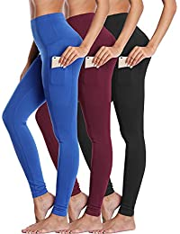 High Waist Running Workout Leggings for Yoga with Pockets