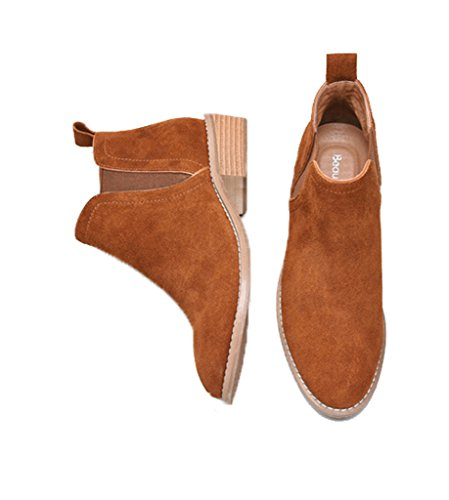 Comfortable Brown U Women Booties Suede lite Classic Womens Leather Boots Ankle Fall Winter Chelsea rFWXO1qBF