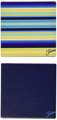 Thirstystone Occasions Stoneware Drink Coasters, Fiesta Cool Stripe ()