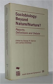 Book Sociobiology: Beyond Nature Nurture