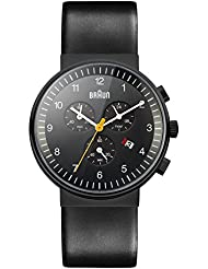 Braun Mens BN0035BKBKG Classic Chronograph Analog Display Quartz Black Watch