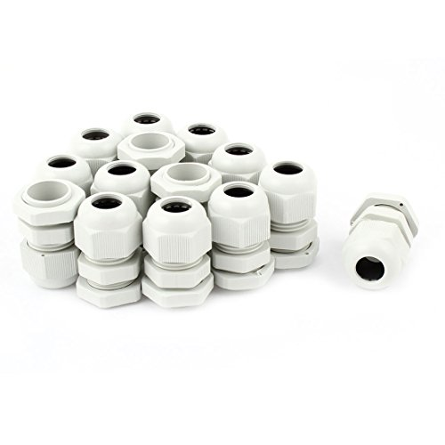 uxcell PG11 Strain Relief Cord Grip Cable Glands 14Pcs for 5-10mm Dia Cable