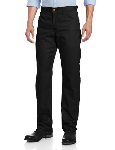 (Dickies Men's Slim Straight Fit Light weight 5-pocket Twill Pant, Black, 32X32)