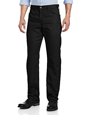 Men's Slim Straight-Fit Lightweight Five-Pocket Twill Pant