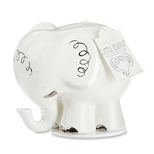 Baby Aspen Little Peanut Elephant Ceramic Bank, ()