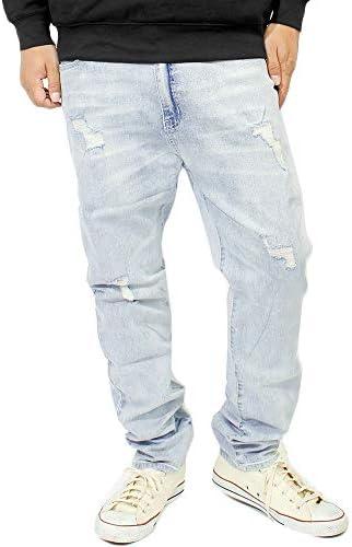 スキニーパンツ メンズ 大きいサイズ デニム ストレッチ スリムフィット デニムパンツ ジーンズ