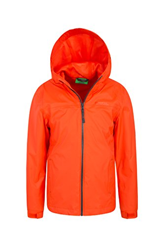 Rain Coat Adjustable Travelling Warehouse Kids Childrens Mountain Taped Waterproof Jacket Summer Zipped Torrent Jacket Coat Ideal Orange Seams Summer for Features Pockets qawBxA0x