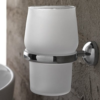 Toscanaluce 1502-638845329439 Riviera Collection Modern Wall Hung Bathroom Tumbler, Chrome