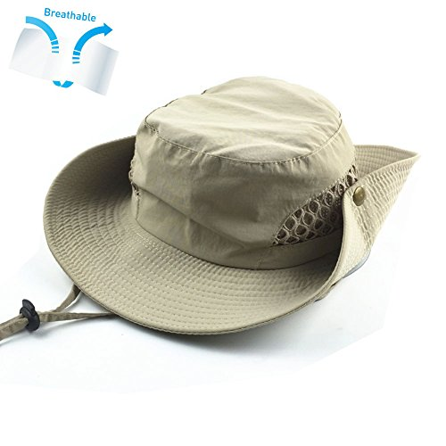 Isidore Jackson Boonie Sun Hat Wide Brim, Sun Cap Fishing Hat For Men Women, Sun Protection & Breathable Bucket Boonie Hat for Hunting, Fishing, Hiking, Outdoor Sports & Travel