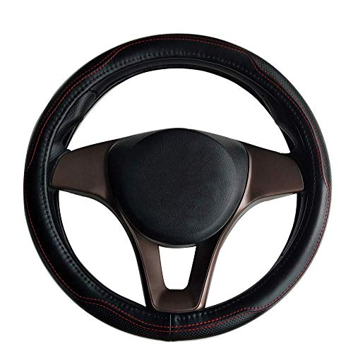 Han sui song Car Steering Wheel Protector Auto Decoraction Genuine Leather 38cm(15inches) for Renegade Compass Soul ()