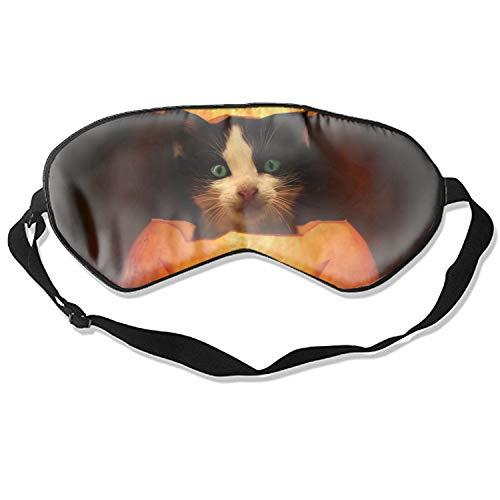 Halloween Cat Cool Eye Breathable Eye Shade Sleeping Eye Mask Cover For Men Women Kids, Multicolor -
