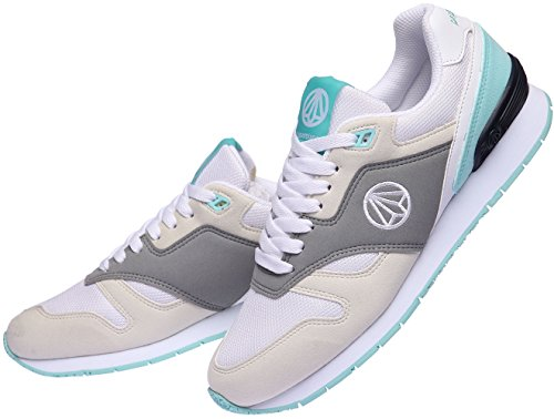 Paperplanes-1328 Unisex Casual Lace Up All-Day Walking Sneakers Gray Mint J3q8S