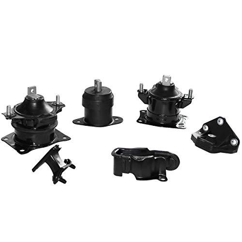 Engine Motor & Trans Mounts Compatible for 03-07 Honda Accord 3.0L & 04-06 Acura 3.2L, Set of 6 pcs