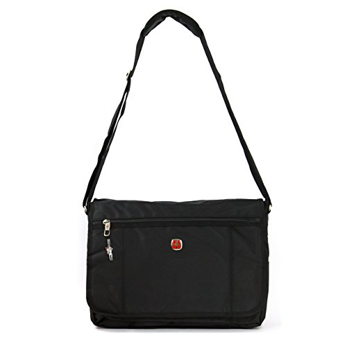 New Bags Umhängetasche Laptoptasche Schultertasche Polyester schwarz OTD201S